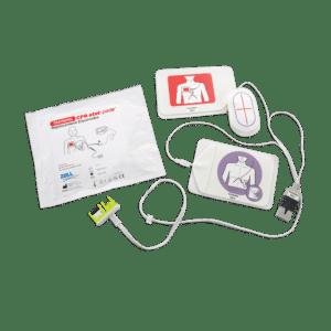 CPR Stat-Padz harjoistuskaapeli ja -elektrodit. Sis. Y-yhdistäjän simulaattoriin