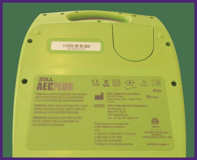 1. Käännä defibrillaattori