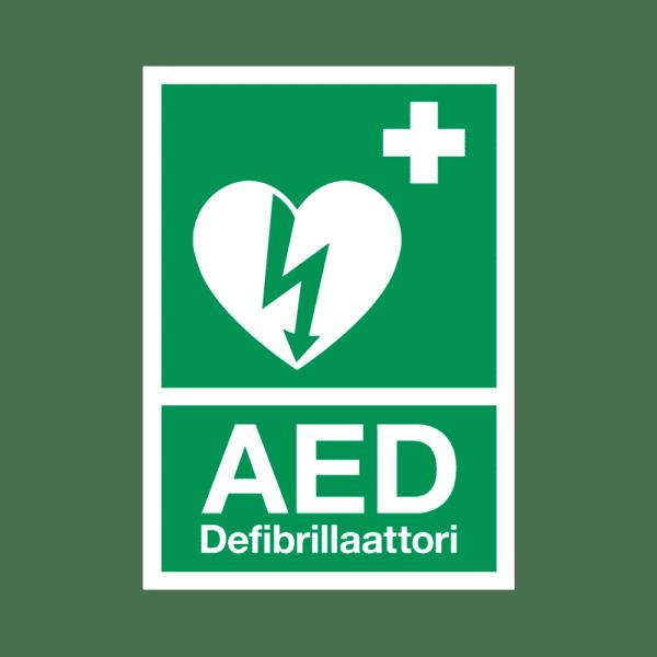 AED-kyltti, heijastava, A4