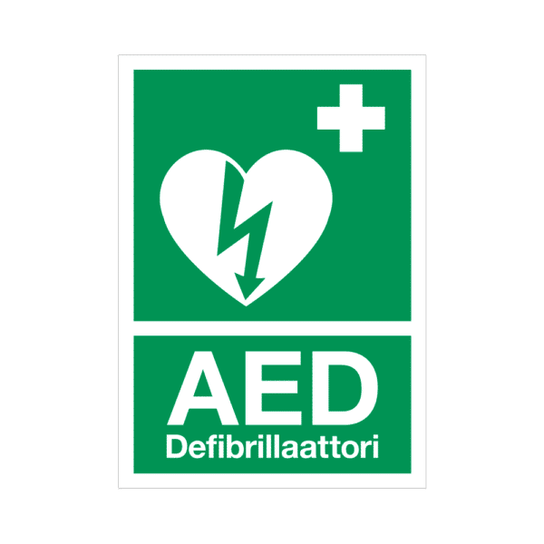 AED-kyltti – tarra A5